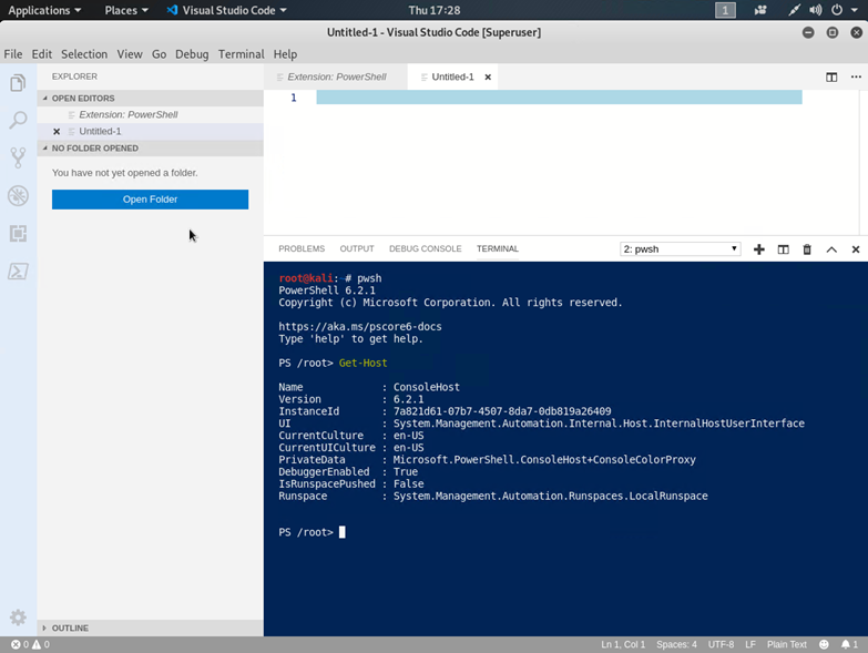 Kali Linux, Hyper-V, PowerShell and VS Code | Scomurr's Blog